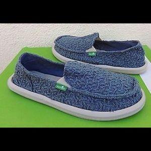Sanuk sidewalk surfer sneakers, blue knit